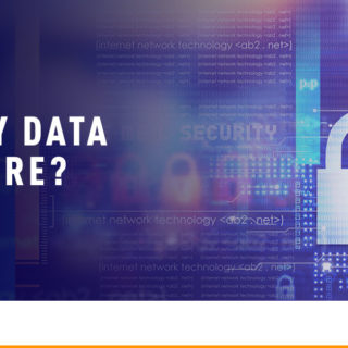 Digital Data with Padlock - Banner Image for Is My Data Secure Blog