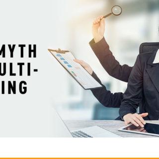 Female Employee with Multiple Hands - Banner Image for The Myth of Multi-Tasking Blog