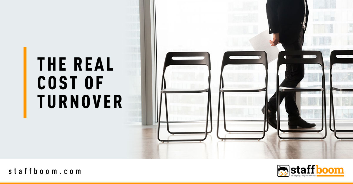 Male Applicant Behind Chairs - Banner Image for The Real Cost of Turnover Blog